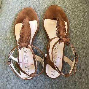 Sole Society fringe sandal